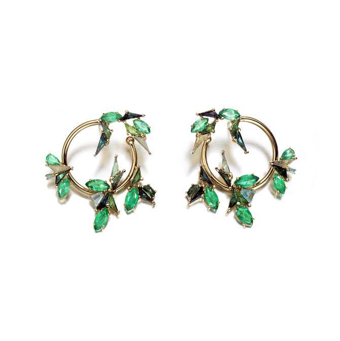 Nak Armstrong jewelry design FLORA BYPASS HOOPS