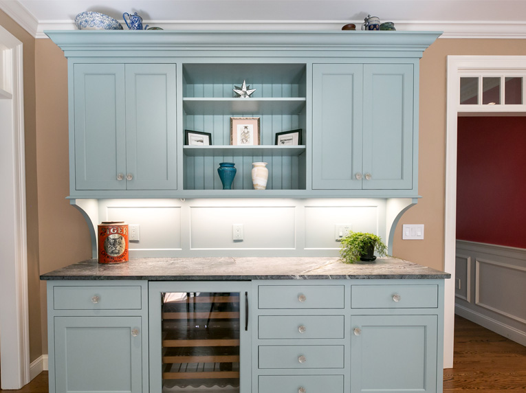 kitchen design trends painted hutch unit